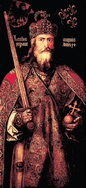 Charlemagne Becomes Emperor From Pepin to Charlemagne Pepin dies in 768, leaves kingdom