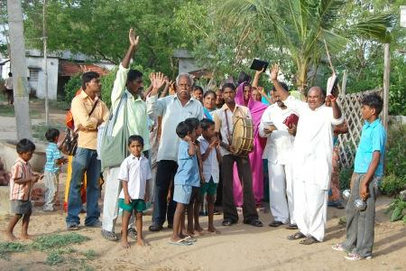 Bishop Yatham's Street Evangelism The church ministry also conducts village preaching and tribal