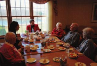 16 Picture 10 Residents eating lunch together and discussing about what they would like to have for their life care community, Goshen, Indiana, 2010 Assisted living housing for the elderly in Goshen,