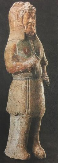A Pottery Warrior with a Lion