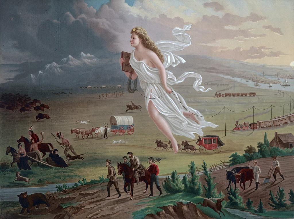 Manifest Destiny The expansionist idea, Manifest Destiny, began to take hold, saying that the United States destiny was to fill North America from the Atlantic to the Pacific.
