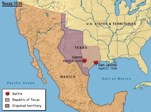 Texas Following demands for greater autonomy by Texan residents in 1835, the Mexican president and Leader Antonio Lopez de Santa Anna lead an army to Texas to impose Mexico s authority.