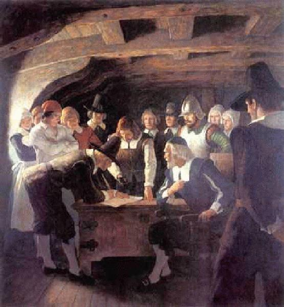 The Pilgrims created an agreement about governing in the New World: The Mayflower