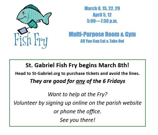 Come have fun and volunteer at the Fish Fry!