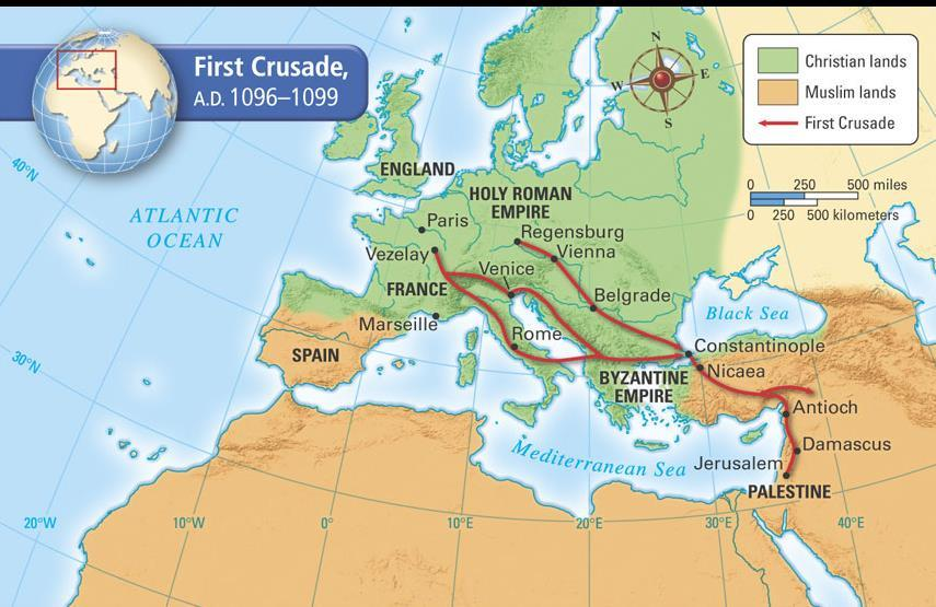 What was the result of the First Crusade?