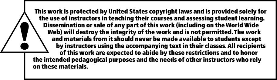 Copyright 2012, 2001, 1997 Pearson Education, Inc., One Lake Street, Upper Saddle River, NJ 07458. All rights reserved. Manufactured in the United States of America.