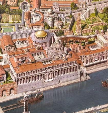 The Byzantine Empire Justinian also completed massive infrastructure projects that transformed Constantinople into
