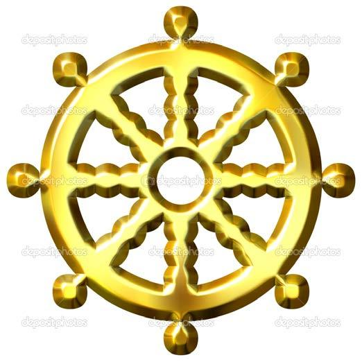 The Symbol of Buddhism *The wheel represents the eightfold path