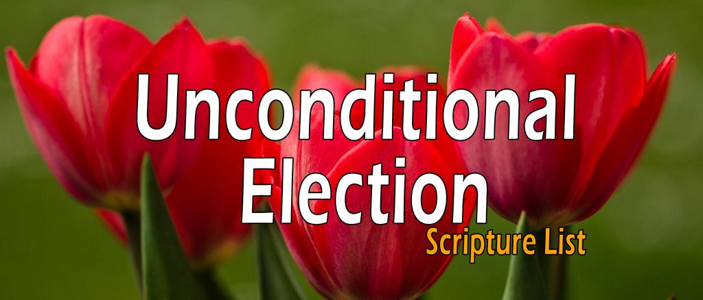 UNCONDITIONAL ELECTION, SOVEREIGN GRACE - SCRIPTURE LIST Published: Sunday 23rd of March 2014 20:23 by Simon Wartanian URL: https://www.thecalvinist.
