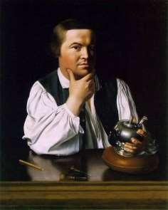 John Singleton Copley was a very talented painter who went abroad to help develop his skills, like most painters had to do. One of his most famous paintings is this portrait of Paul Revere.