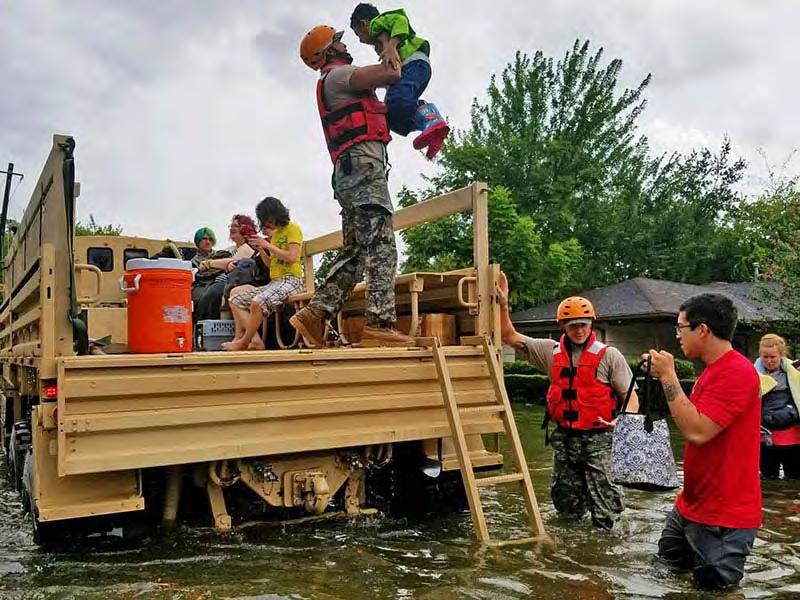 Presbyterians mobilize to help the people of Texas recover after Hurricane Harvey Texas National Guard soldiers assist residents affected by flooding caused by Hurricane Harvey in Houston, Aug.