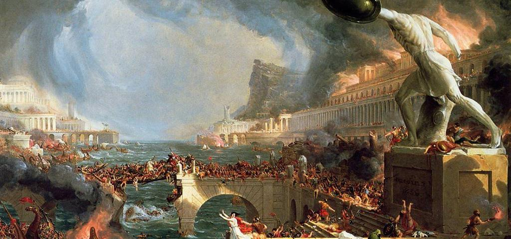 Depiction of the Fall of Rome The Mother of the World is Dead 476 A.