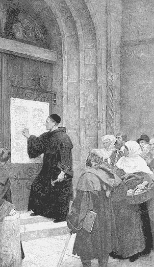I. The Protestant Reformation C. The 95 Theses 1. written in 1517 2. Luther argued : a.