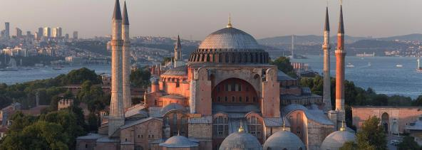 structures like the Hagia Sophia. By 1516, the Ottomans took over Syria.