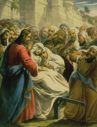 7 A3 Universalism Look at the picture below, which shows Jesus raising the Widow of Nain s son from the dead.