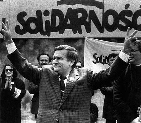 Lech Walesa after being jailed for nearly a year for his leadership with Solidarity, he began to lead the union program in secret in 1988, a union