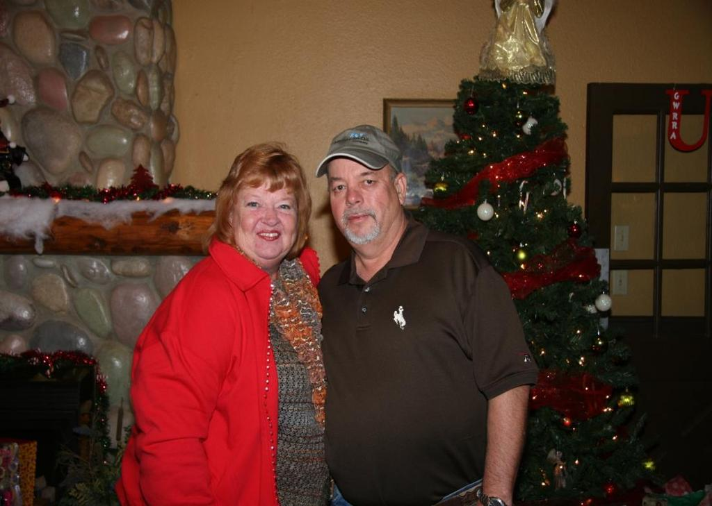 "Clint and Michele Carlton One of the novelties of our Christmas party program was honoring the 2016 Chapter ""U"" Couple of"