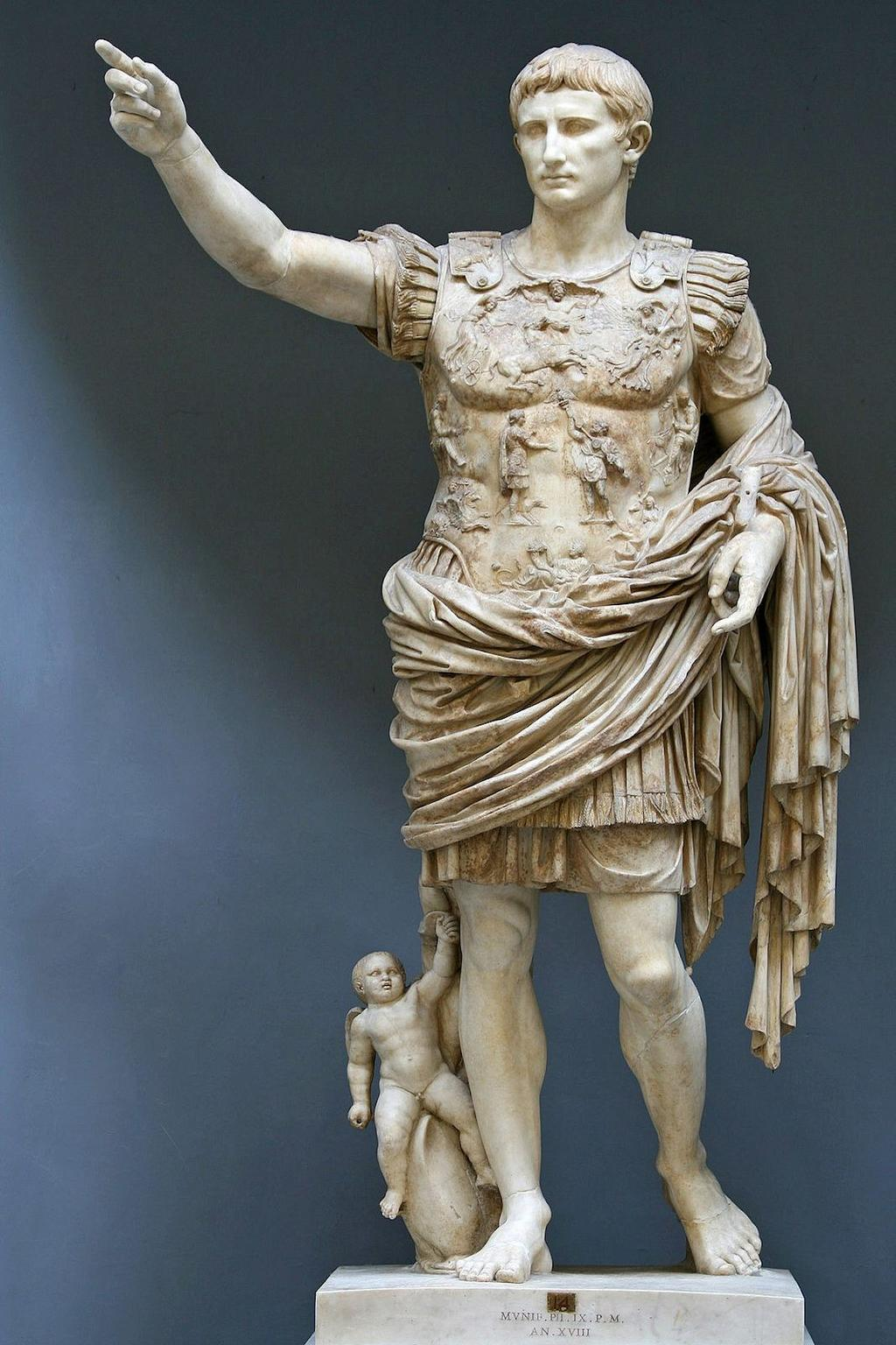 The Roman Empire Octavia was given the title Augustus Exalted One and declared him