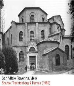 Early Prototypes (St Vitale Ravenna) Byzantine architecture has its early prototypes in two churches, San Vitale (526-47), Ravenna