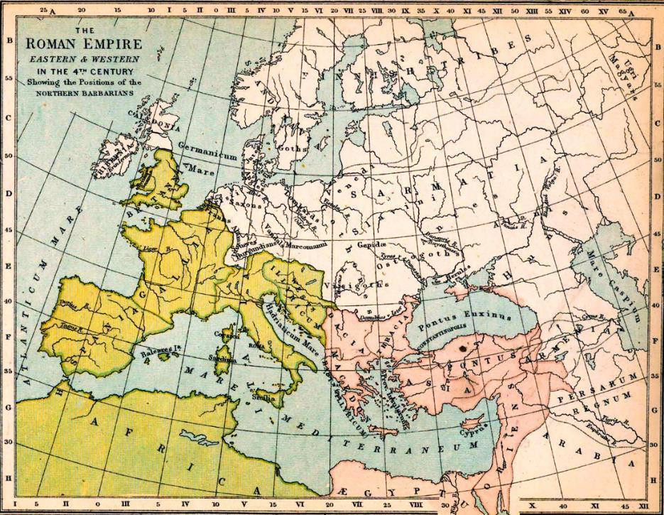Byzantine Empire was the continuation of the Roman Empire in the Greek-speaking, eastern part of the Mediterranean.