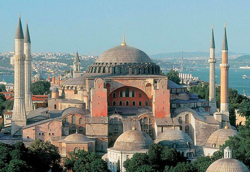Hagia Sophia In 532, riots and a fire destroying many buildings