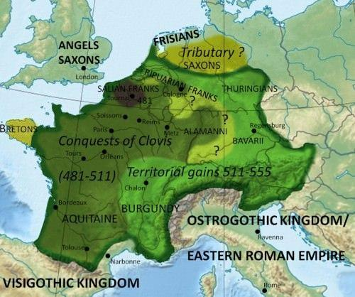 The Kingdom of the Franks The strongest and most successful kingdom was that of the Franks 486, Clovis, king of the Franks,