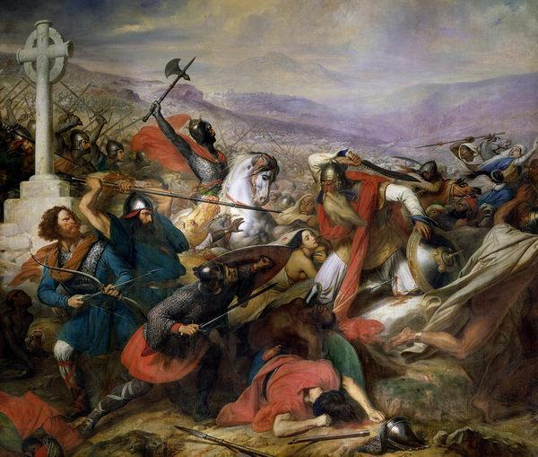 Muslims in Europe When a Muslim army crossed into France, Charles Martel rallied Frankish warriors At the Battle of Tours in 732, Christian warriors