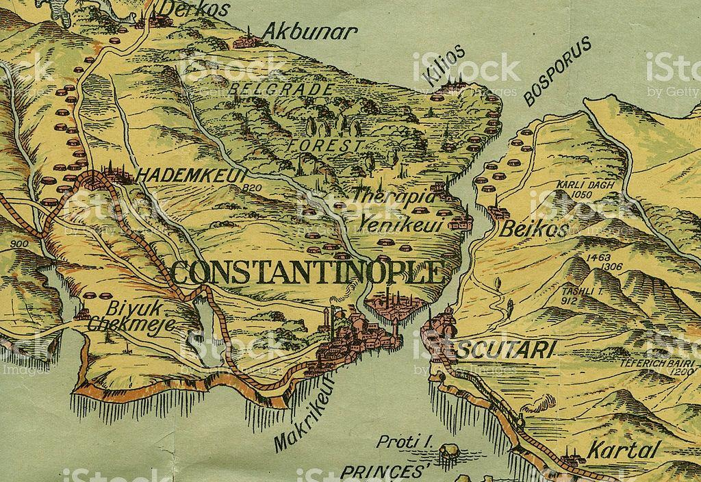 Constantinople Grows The center of the empire The city was located on the shores of the Bosporus, a strait that