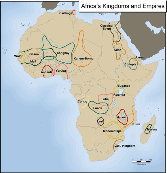 Kingdoms of West and Eastern Africa (500 AD- 1400 AD) - Geography of NW & NE W.
