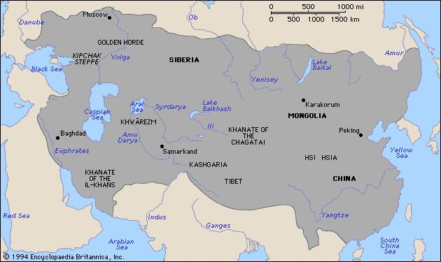 -1206 unites 1225 AD The Pax Mongolia Controlled the Road the Mongol people. or the years of which led to. begins.