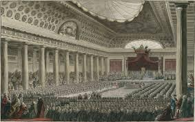 Meeting of the *Estates General (May 5, 1789) goal: call meeting to
