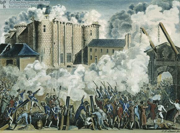 *Storming of the Bastille July 14, 1789: mob stormed the Bastille,