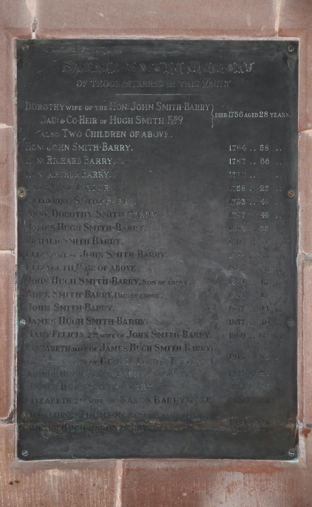 St Mary and All Saints Church, Great Budworth No chapel was ever built at Marbury in spite of the codicil in James Hugh Smith Barry s will of 1799, requesting his trustees to provide a plain, neat