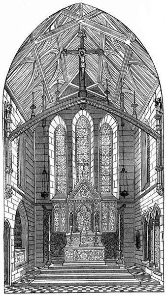 Pugin s Designs Sedilia (Part 5) Reformation. 2 He described the sedilia in 1841 as three stone recesses, divided by shafts, and diapered at the back.