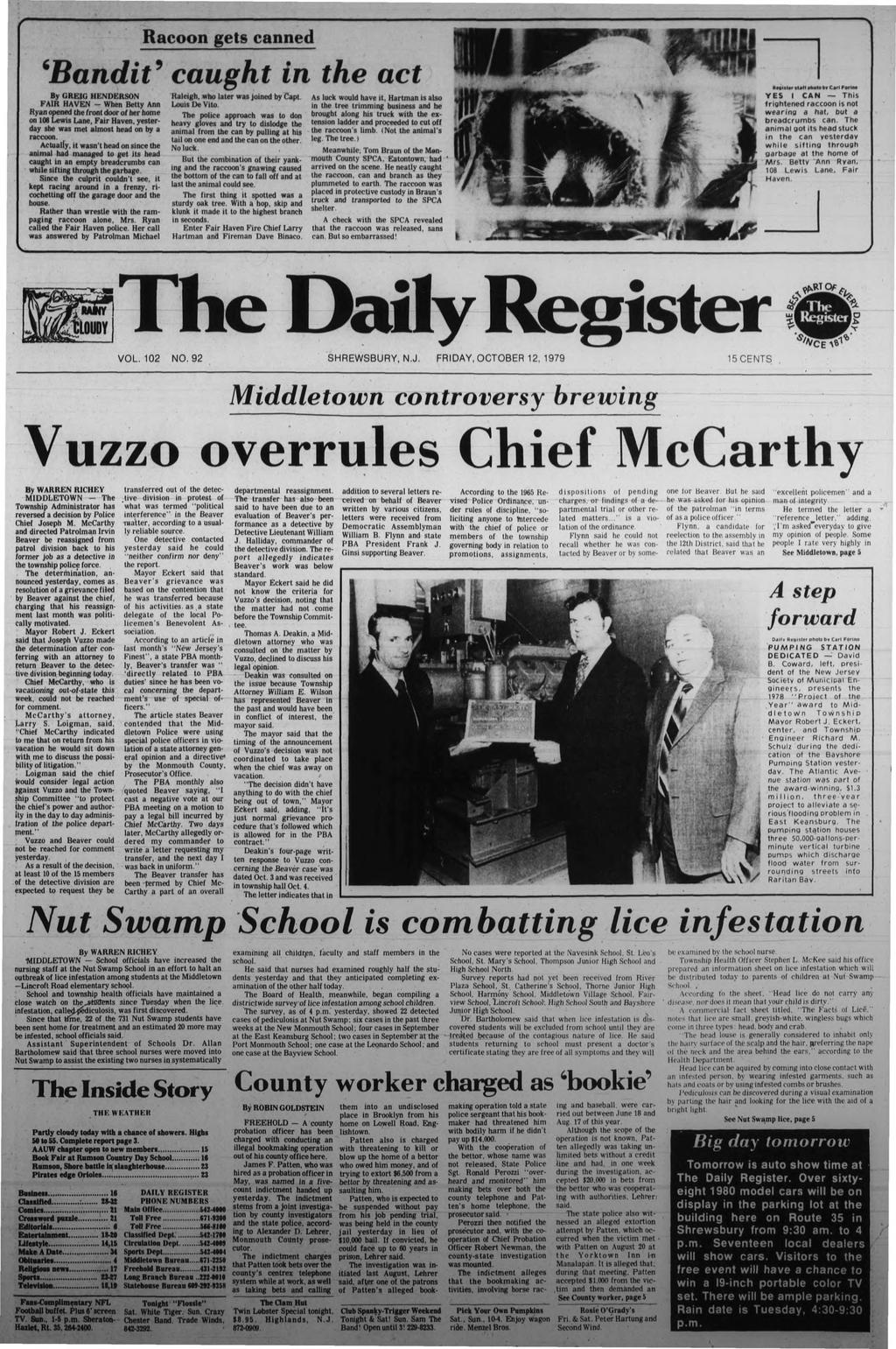 The daily register middletown controversy brewing vuzzo overrules transcription fandeluxe Choice Image