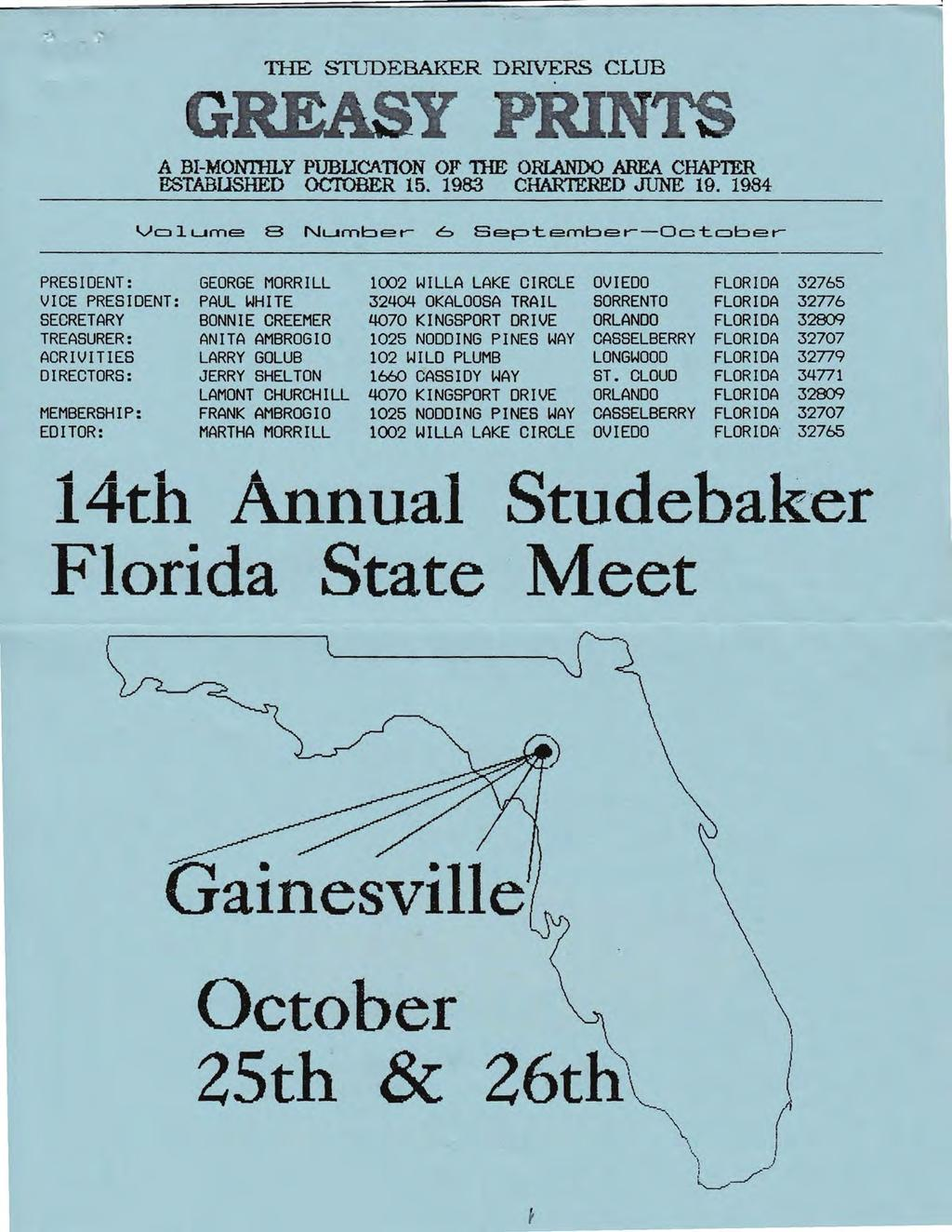 The Studebaker Drivers Club Greasy Print A Ffi Montilly Pubucanon Class Wiring Diagram For 1960 1964 Large Trucks Tle Stjdebaker Drvers R B Monhly Publicaton Of Te Orlando Area Chapter Estabushed October