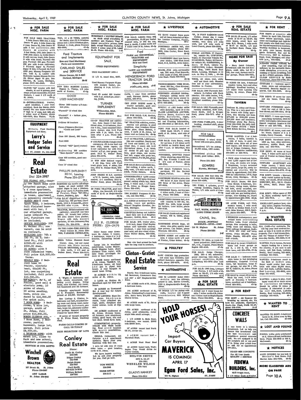 County enters dewitt assessment hassle pdf wednesday april 2 1969 clinton county news st johns michigan page fandeluxe Image collections
