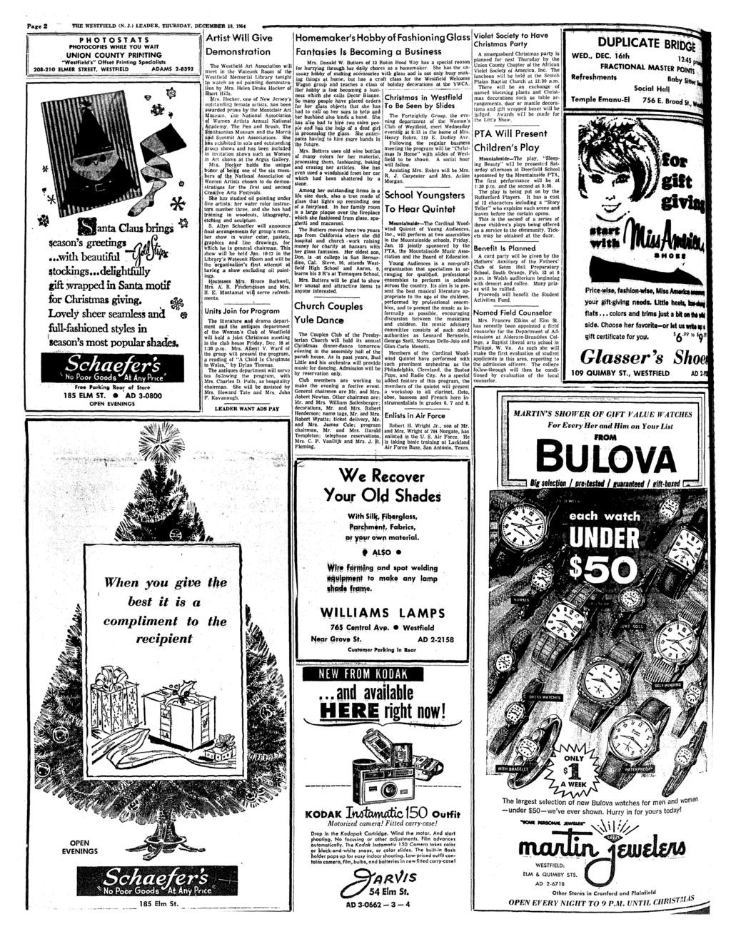The leading and most widely circulated weekly newspaper in union page 2 wee westfield n j fandeluxe Images