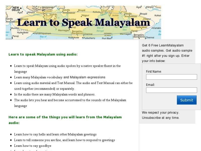 Click Here Speak Malayalam Learn To Speak The Malayalam