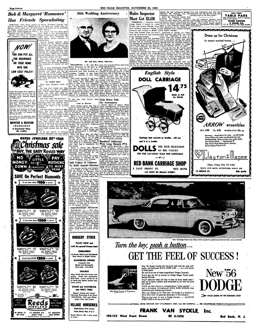 Red Bank Register Adult School Class On Field Trip 2 County Glove Compartment Wiring Diagram For 1953 Studebaker Champion And Commander Page Twerre November 23 1955 Bob Margaret Romance 9 Has