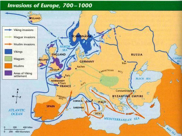 Influence of Invasions Invasions disrupted trade,