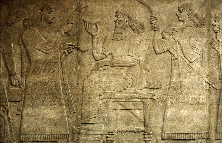 Early Civilizations and Empires in Arabia and Iraq This carving from a palace in Nimrud, in northern