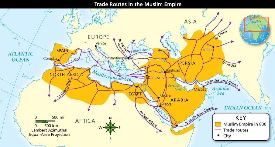 Islam and Islamic Civilizations Trade played an important role in the Arab Muslim empire.