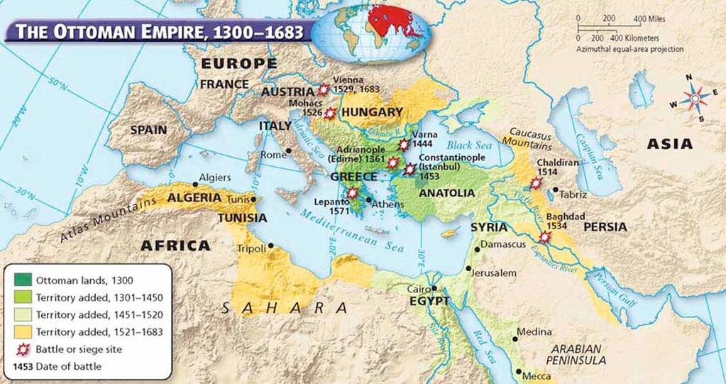 The Safavid Empire East of the Ottomans, Persian Muslims called the Safavids began building an empire around 1500. The Safavids soon came into conflict with the Ottomans and other Muslims.