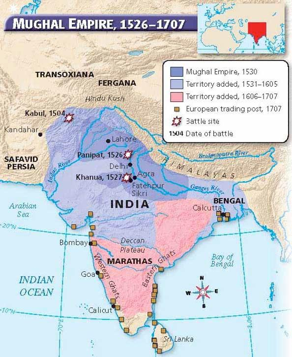 claims to throne led to civil war Soon invaders poured into India from north Mughals continued to rule for about 150 more