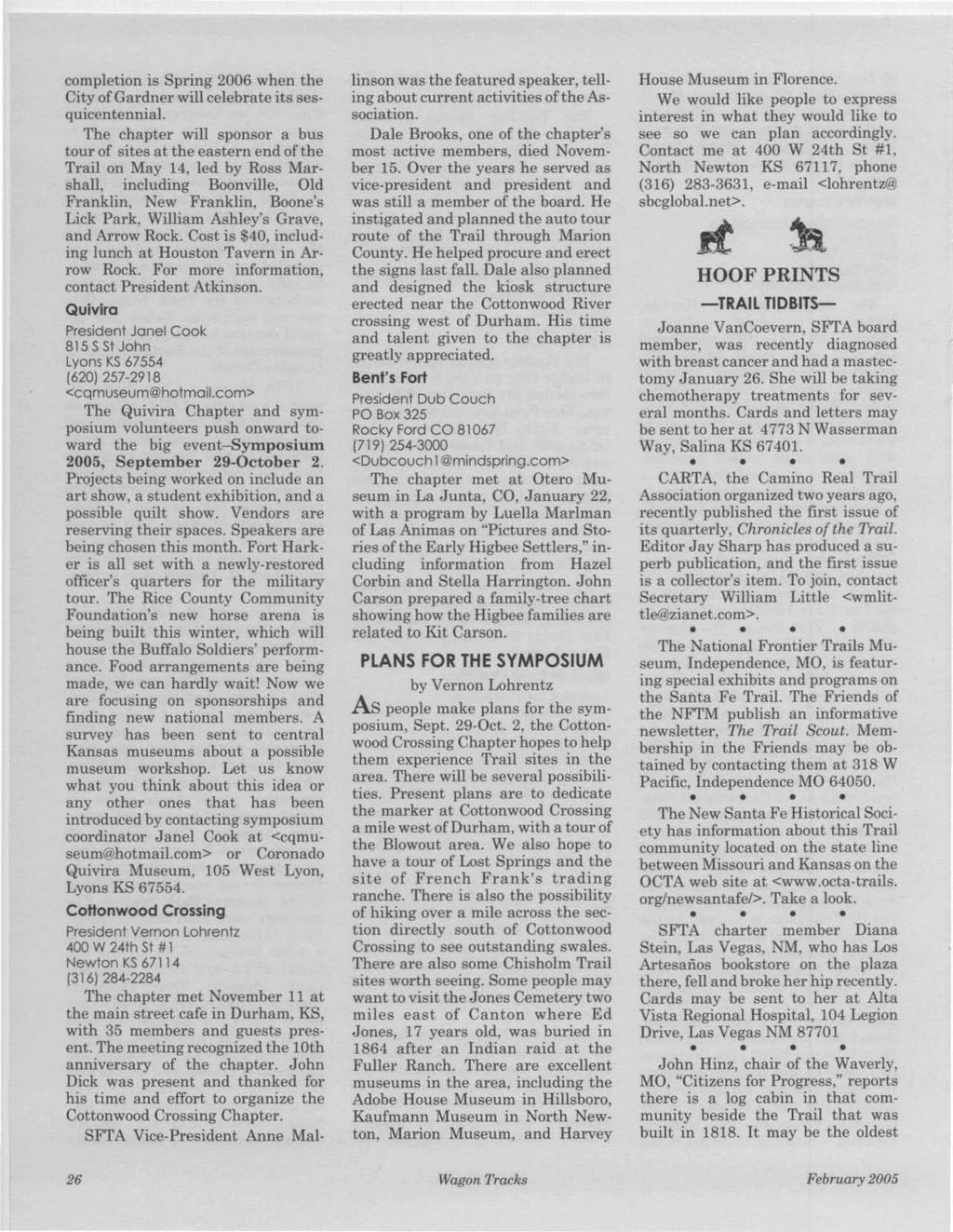 Fe trail associatiov quarterly volume 19 november 2004 number 1 pdf completion is spring 2006 when the city ofgardner will celebrate its sesquicentennial fandeluxe Choice Image