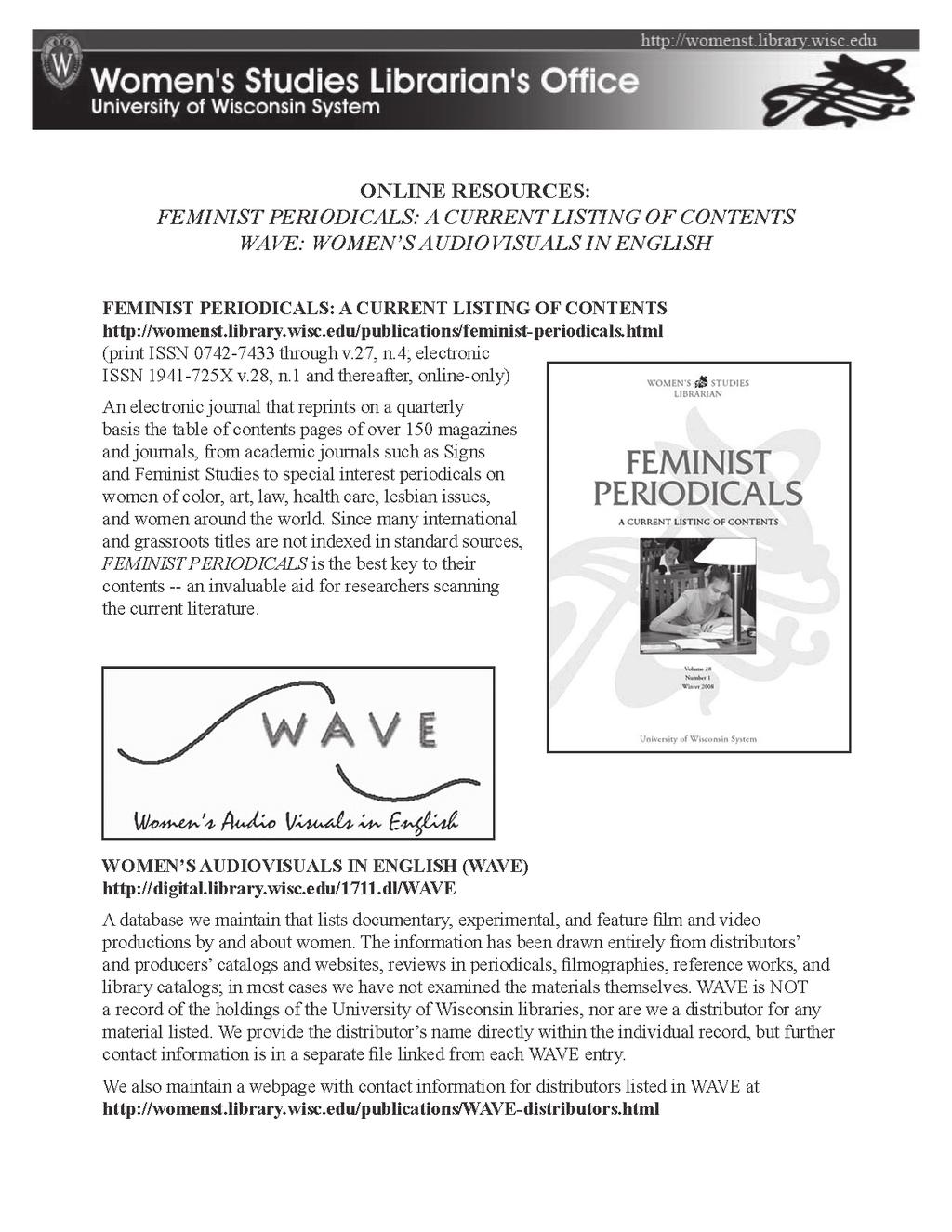 Women s studies librarian new books on women gender and feminism book review publishers weekly signs journal of women in culture and society women s review of books women s studies an interdisciplinary journal 83 fandeluxe Choice Image