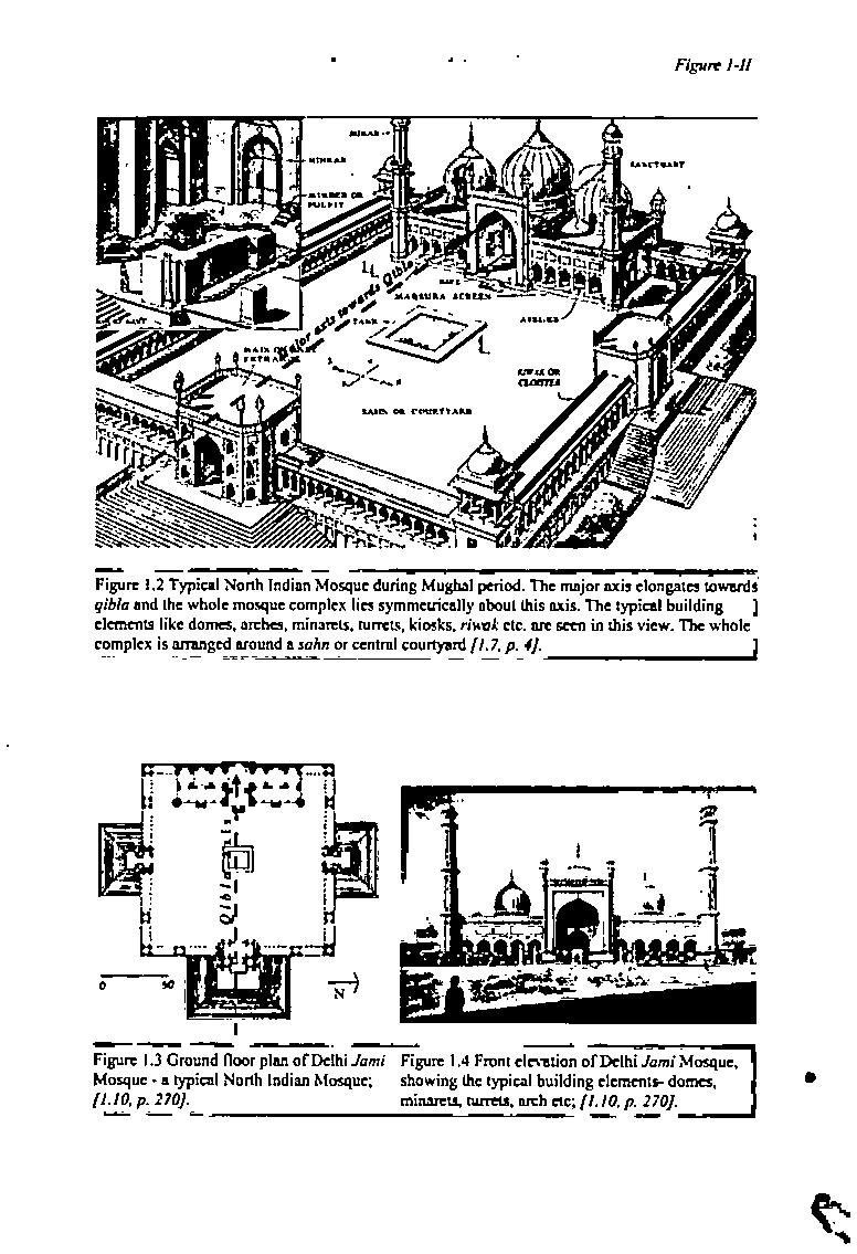 fig 1 the basic design elements of a simple mosque a plan