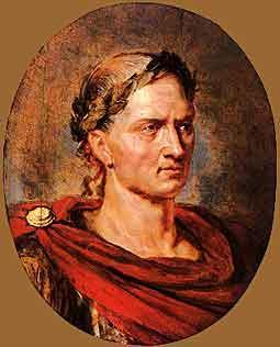 Julius Caesar One of the leaders of the Populares was a man named Julius Caesar He conquered much of Spain and Britain with out the permission of the Senate which made him an enemy to the Senate but