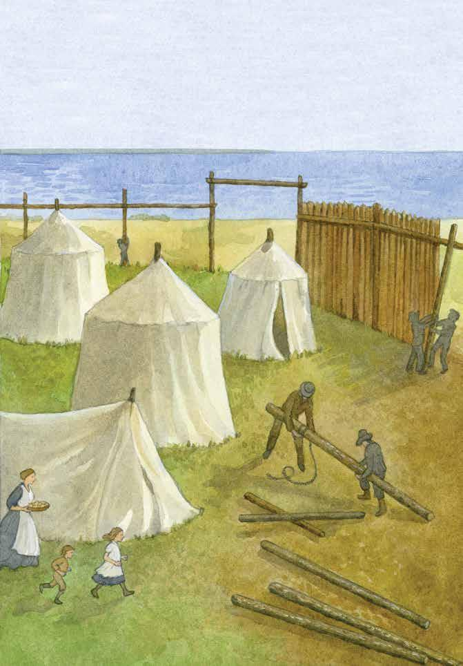 The first English settlers hoped